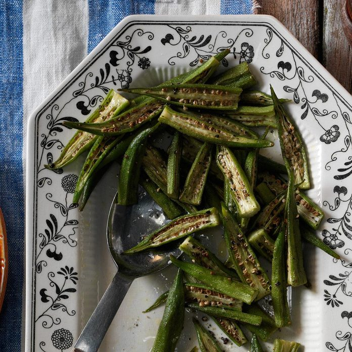Roasted Fresh Okra