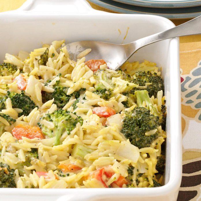 Broccoli Orzo Bake