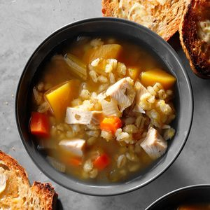 Butternut Squash and Barley Soup