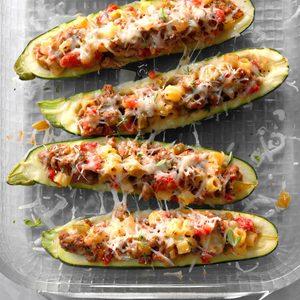 Garden-Stuffed Zucchini Boats