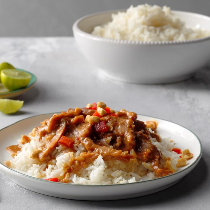 Sweet and Spicy Peanut Chicken