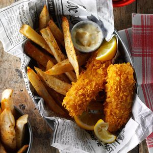 Air-Fryer Fish and Fries
