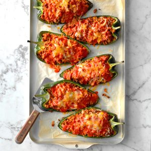 Easy Stuffed Poblanos