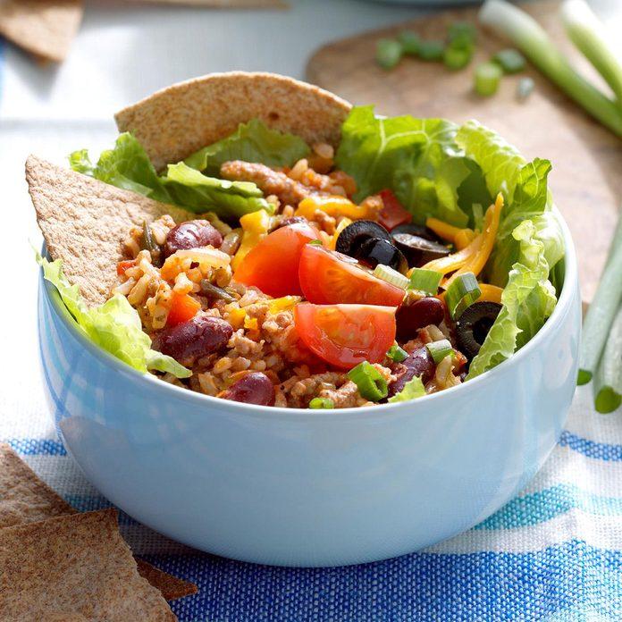 June 3: Turkey Salsa Bowls with Tortilla Wedges