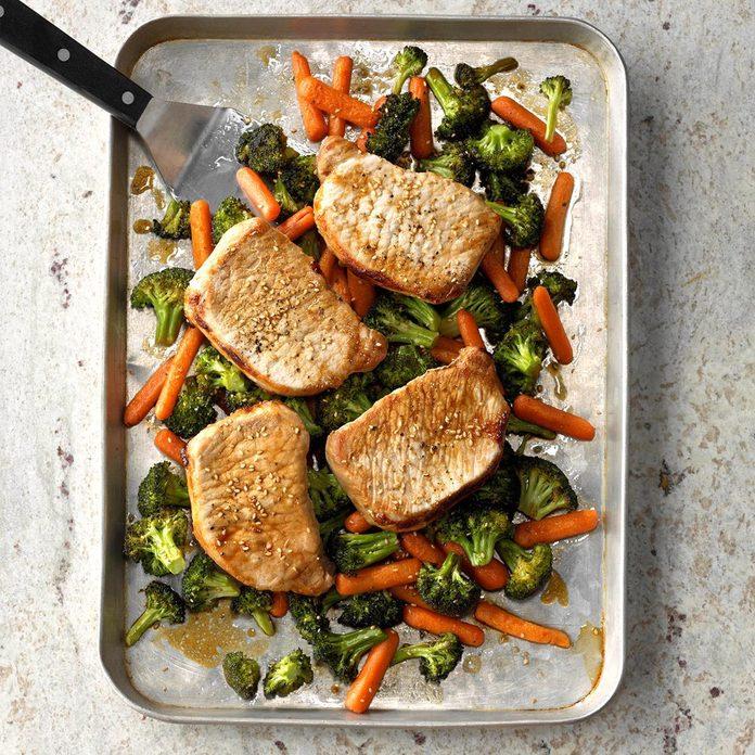 Baked Teriyaki Pork & Veggies