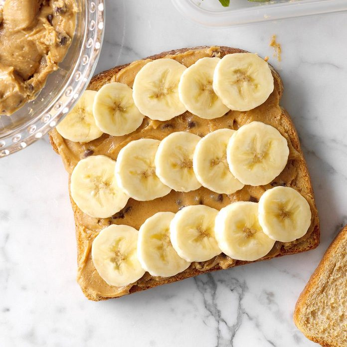 Chocolate Chip, PB & Banana Sandwiches