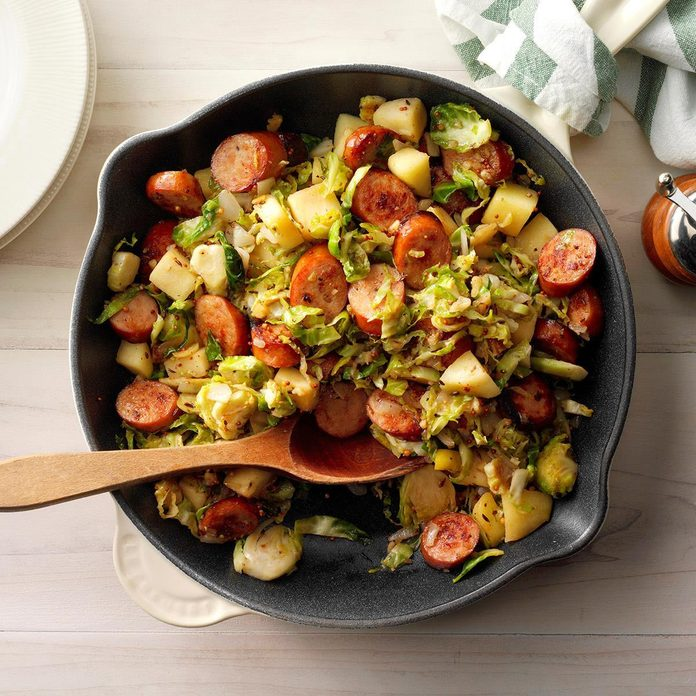 Bavarian Apple-Sausage Hash