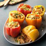 Slow-Cooker Chicken Enchilada Stuffed Peppers
