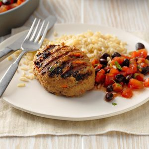 Southwest Turkey Patties with Beans