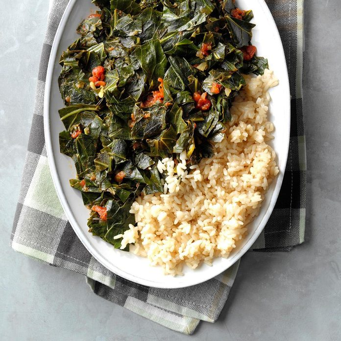 Rice with Collard Greens Relish
