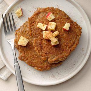 Apple-Cinnamon Quinoa Pancakes