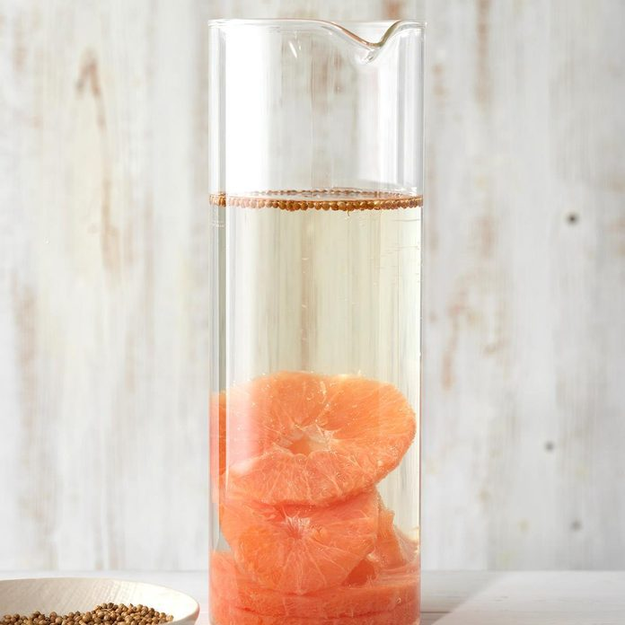 Grapefruit and Coriander Infused Water