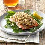 Walnut and Oat-Crusted Salmon