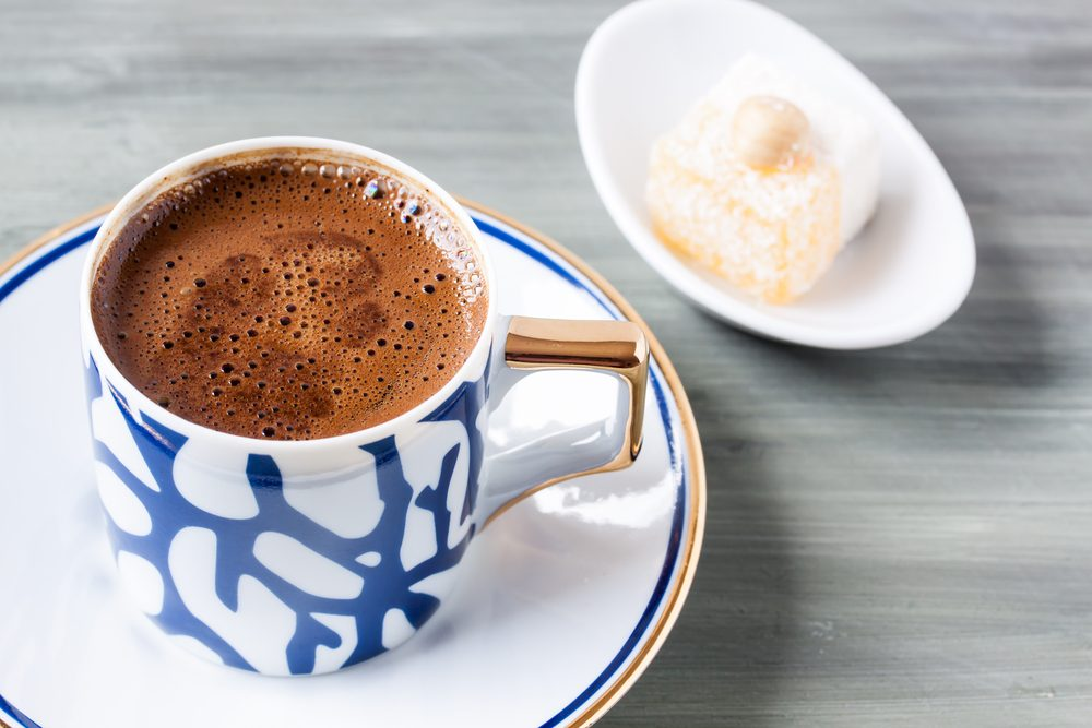 Turkish coffee and Turkish delight; Shutterstock ID 407886841
