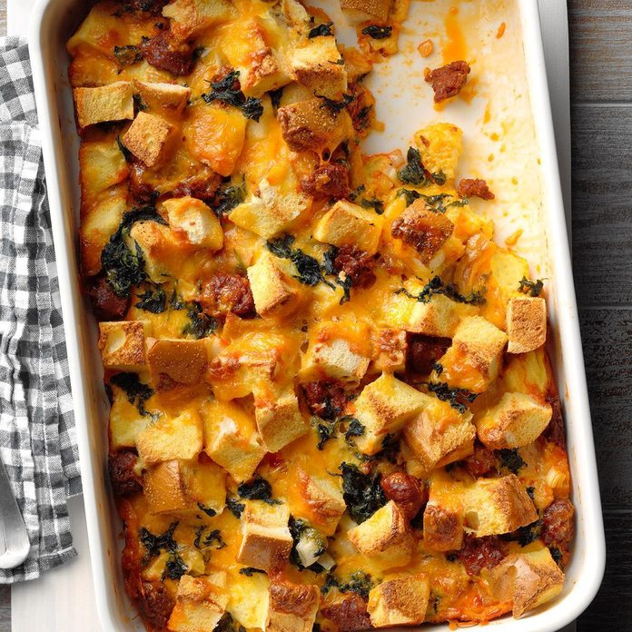 Day 23: Cheddar and Chorizo Strata