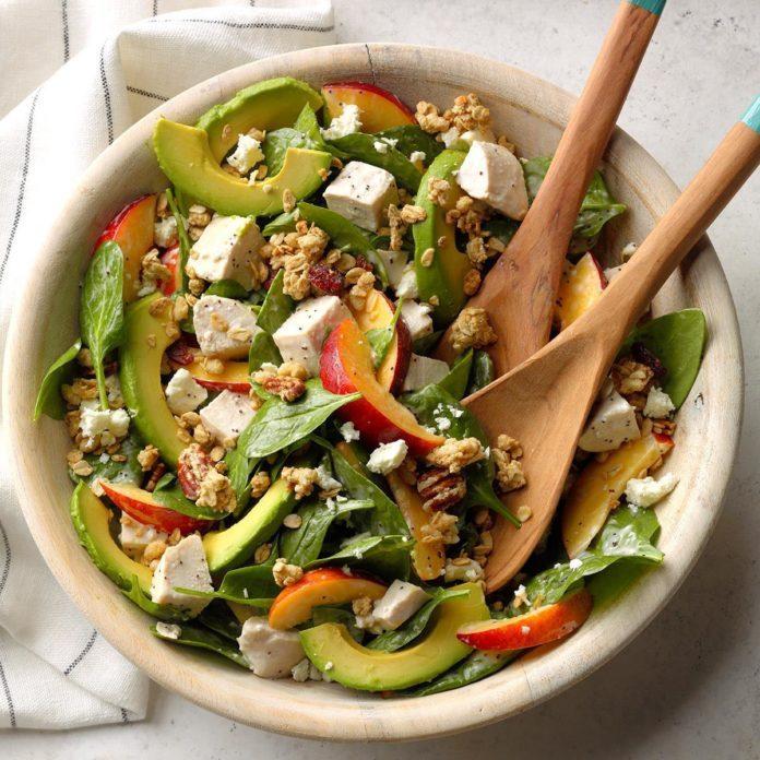 Chicken Nectarine and Avocado Salad