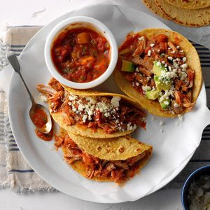 Pressure-Cooker Pork Tacos with Mango Salsa
