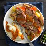 Pressure-Cooker Mushroom Pot Roast