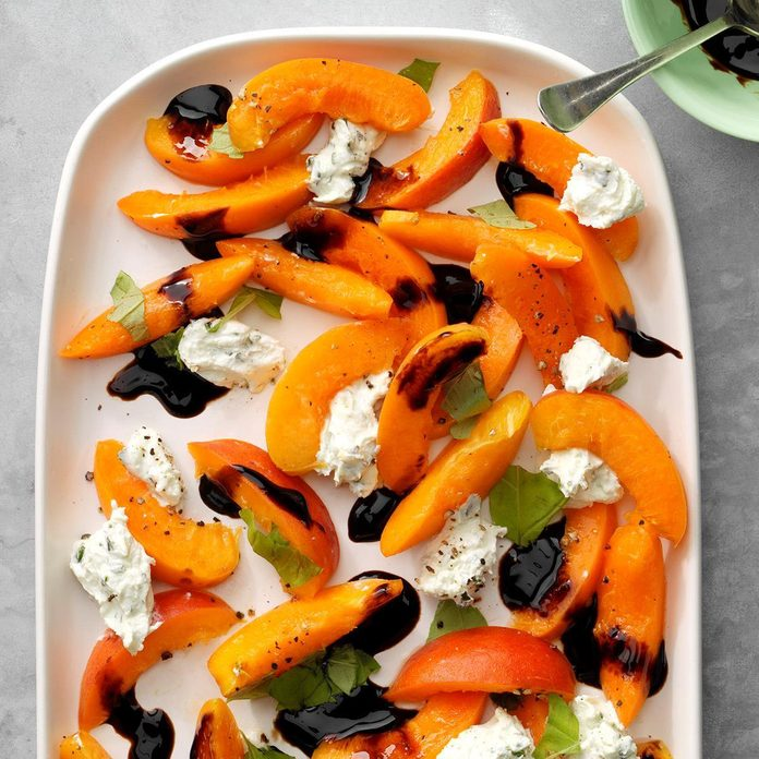 Apricots with Herbed Goat Cheese