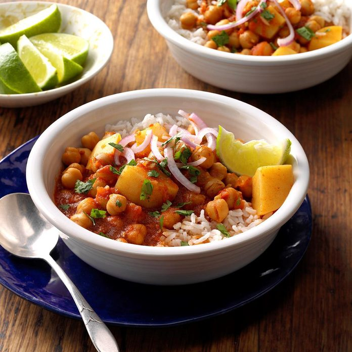 Day 14: Pressure-Cooker Chickpea and Potato Curry