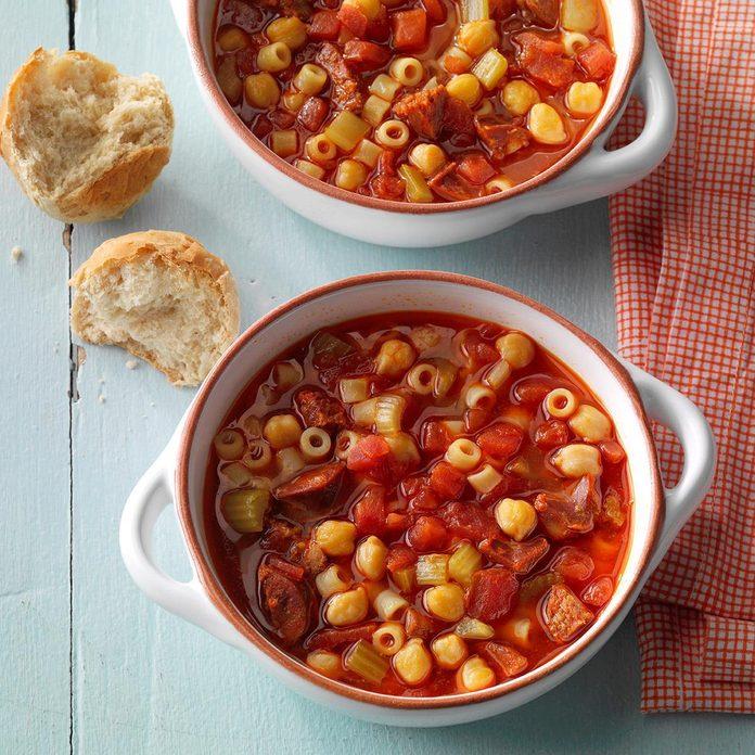 Chorizo and Chickpea Soup