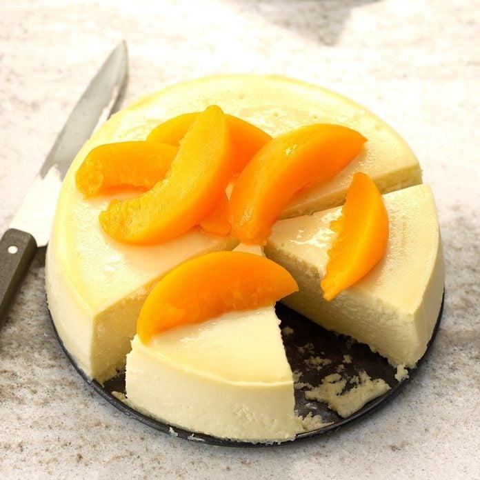 Pressure-Cooker Peachy Summer Cheesecake