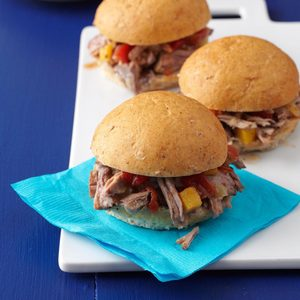 Pressure-Cooker Tropical Pulled Pork Sliders