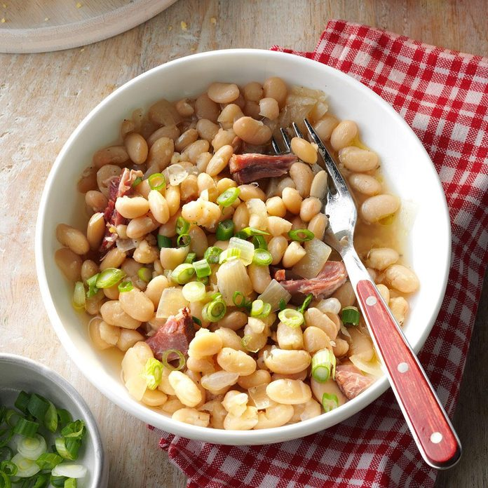 Pressure-Cooker Smoky White Beans and Ham
