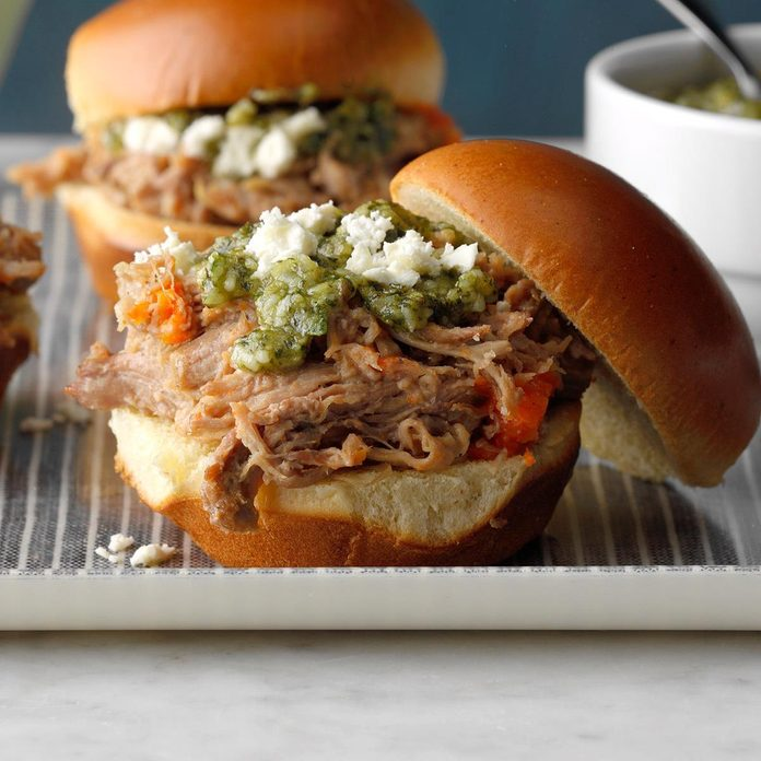 Shredded Lamb Sliders