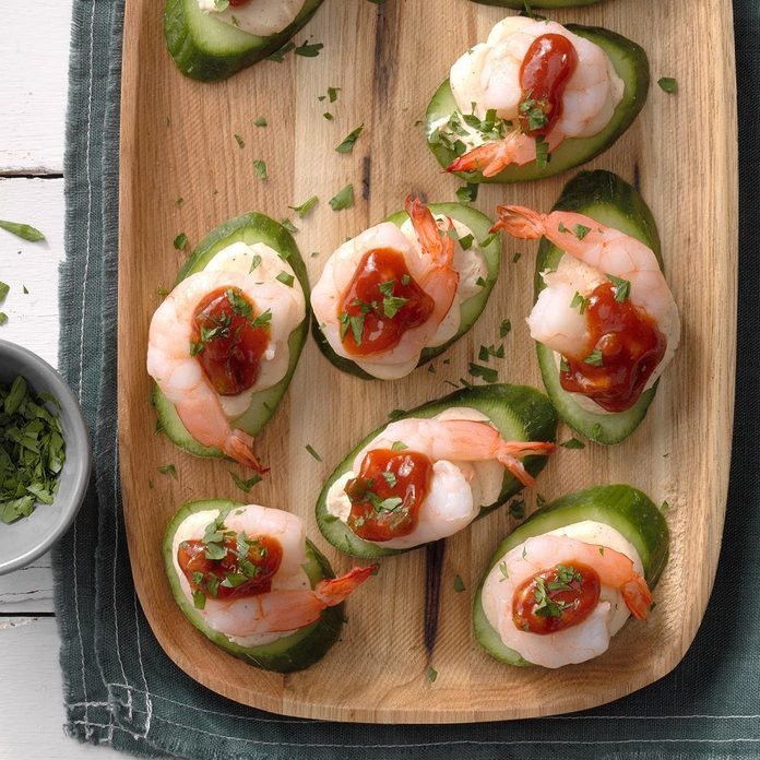 Shrimp and Cucumber Canapes