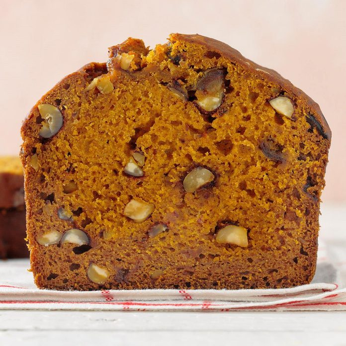 Hazelnut Date Pumpkin Bread