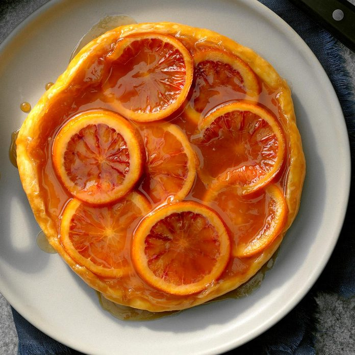 Blood Orange Caramel Tarte Tatin