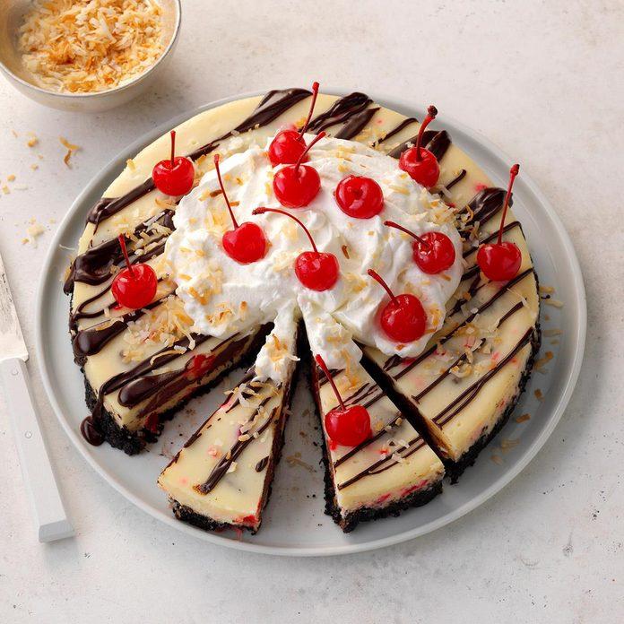 Grand Prize: Cherry Fudge Truffle Coconut Cheesecake