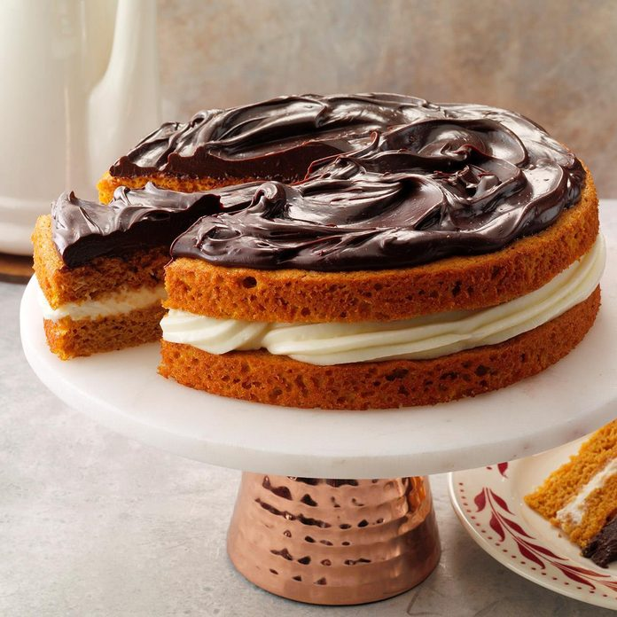 Ganache-Topped Pumpkin Layer Cake