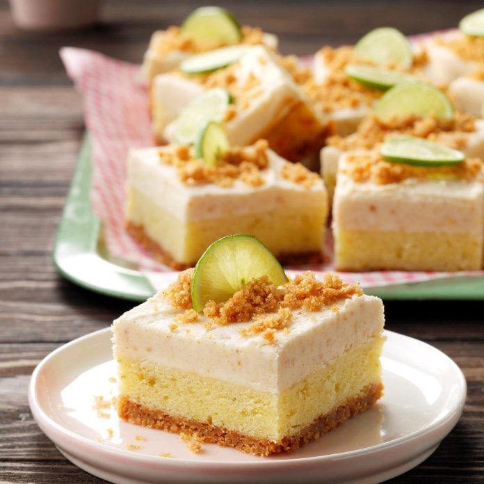 Key Lime Blondie Bars