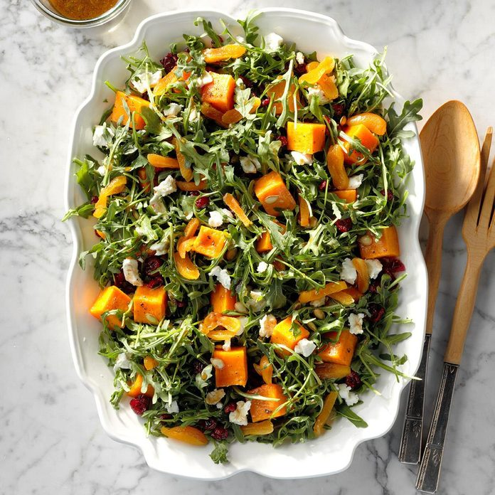Roasted Pumpkin Salad with Orange Dressing