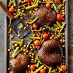 Portobello and Chickpea Sheet-Pan Supper