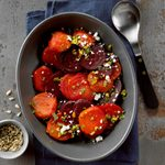 Roast Beets with Orange Gremolata and Goat Cheese