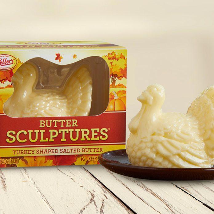 turkey-shaped butter sculpture