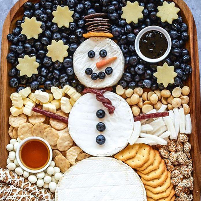 snow man platter