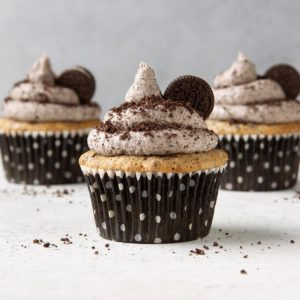 Oreo Cupcakes with Cookies and Cream Frosting