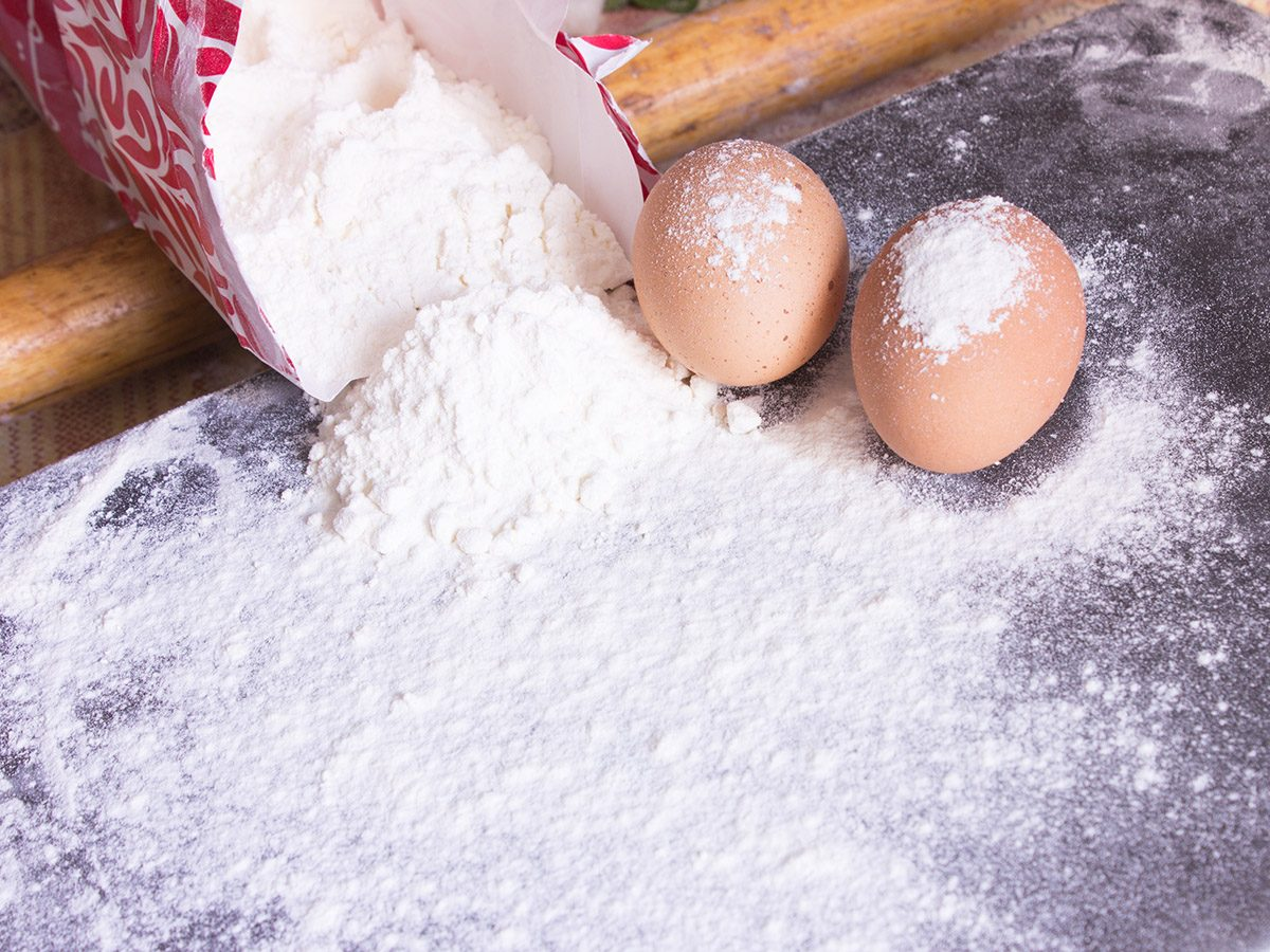 flour bag and Wood rolling pin and tow eggs; Shutterstock ID 638213692; Job (TFH, TOH, RD, BNB, CWM, CM): TOH