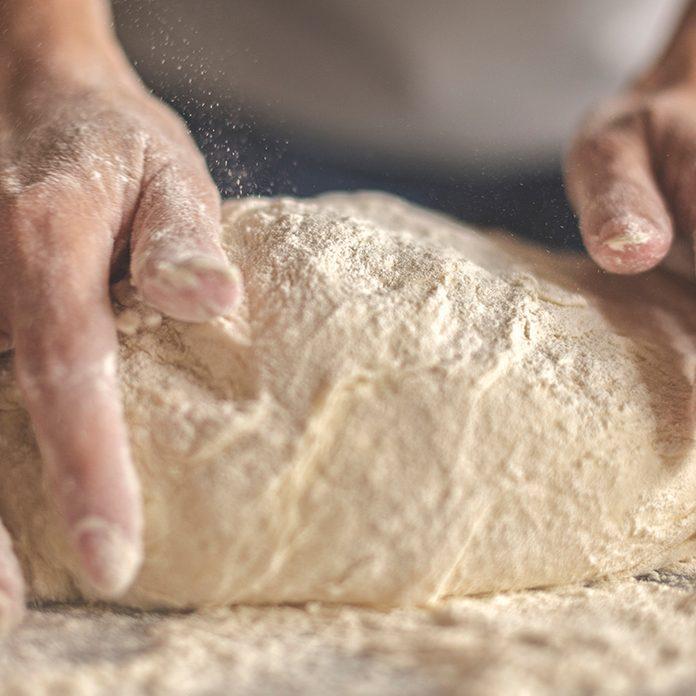 Kneading yeast dough