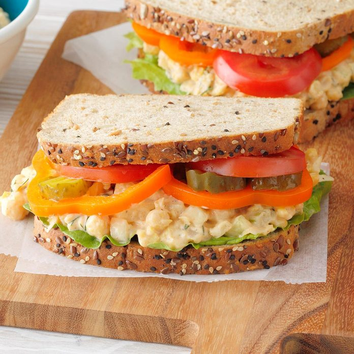 Dilly Chickpea Salad Sandwiches