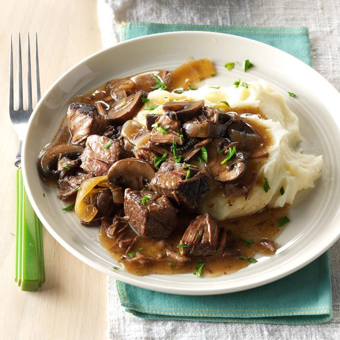 Slow-Cooked Beef Tips