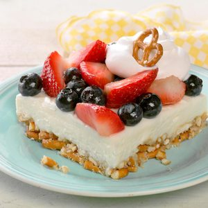 Berry Pretzel Fluff Dessert