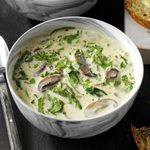 Creamy Spinach Mushroom Soup