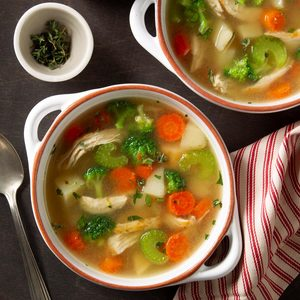 Pressure Cooker Loaded Chicken Veggie Soup