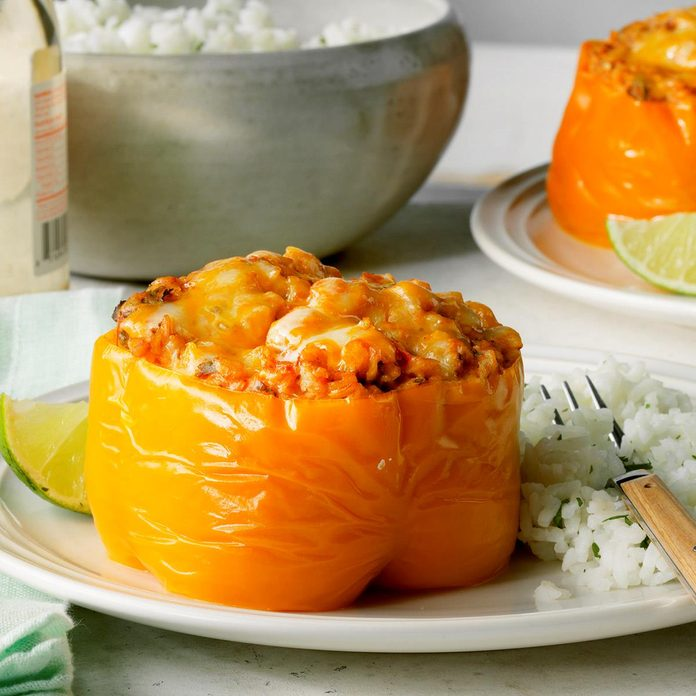 Day 22: Pressure-Cooker Mexican Stuffed Peppers