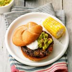 Air-Fryer Black Bean Veggie Burgers
